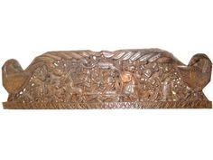 Mobiliindiani ~ Wall decorative panel krishna carving headboard wooden panels door