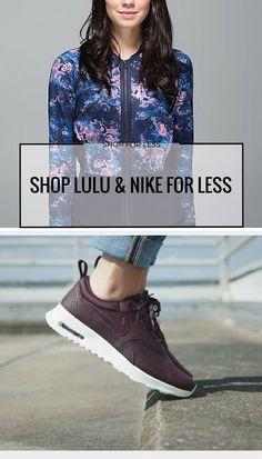 Shop top fitness brands like Lululemon, Nike, Adidas, VS