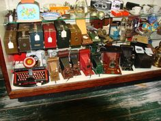 Mostly cameras. Antique Cameras, Old Wood, Attic, Crock, Collections, Pottery, Display, Retro, Antiques