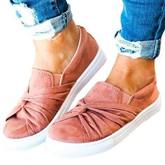 058fa6387aa A more dressy take on the popular Vans slip on shoes. Super comfortable  shoes for summer or spring. Love the blush pink trend going on this season.