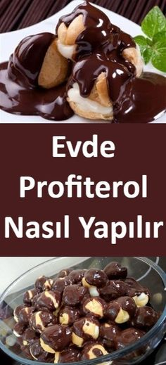 How to make Profiterol at home? - Dessert Recipes - Yemek Tarifleri - Resimli ve Videolu Yemek Tarifleri Cheesecake Vanille, Vanilla Bean Cheesecake, Coffee Cheesecake, Profiteroles, Pound Cake Recipes, Easy Cake Recipes, Dessert Recipes, Dessert Simple, Icebox Desserts