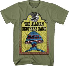 2f08c7a4858b Official Allman Brothers Band - Hell Yeah Adult T-Shirt -Southern rock Jam  band