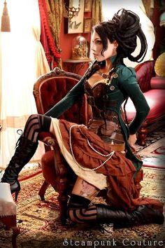 steampunk-lady, really nice dress