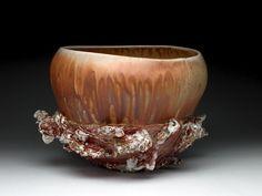 'Spineback' reversible bowl, cone 10 wood fired, $650.00 - crystal nykoluk- Tea Bowls, Sculpting, Decorative Bowls, Ceramics, Mugs, Crystals, Wood, Earth, Products