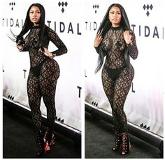 Nicki Minaj Sheer Bodysuit  Nicki Minaj's sheer bodysuit was perfect! Fans can't stop talking about the twerk of the year she delivered at last night's Tidal X concert. The rapper performed along with Alicia Keys Beyoncé T.I. and Lauryn Hill! Nicki was extremely excited to meet Lauryn at the concert. Scroll to the Instagram videos to see the beautiful rapper twerk!  Who would have thought that Lauryn would bring Minaj to her knees at the event. We don't know what's been up with Nicki lately…