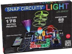 LIGHT-UP SNAP CIRCUITS PHYSICS KIT FOR BOYS Best Christmas Toys for 8 Year Old Boys Favorite Top Gifts