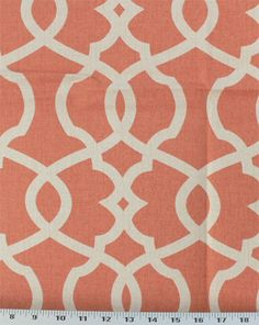 Medium Weight Drapery / Light Weight Upholstery This latticework design in ivory sits on a mottled tangerine background. This fabric has a medium drape and is suitable for many uses, inclu. Coral Painting, Moon Painting, Victorian Couch, Couch Makeover, Window Seat Cushions, Coral Aqua, Magnolia Homes, Cushion Fabric, Fabulous Fabrics