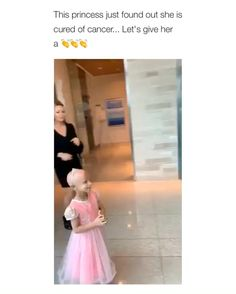 A little girl has just found out that she had been cured of cancer - Amen to that everyone [Video]