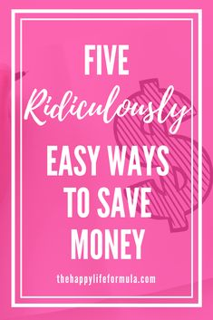 Want to save money? Try these 5 easy ways! I use the first one every single time I shop online and have saved a ton of money!