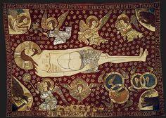 Плащаница. Христос в окружении ангельских сил. Монастырь Преображения Господня, Метеоры, Греция. XIV в