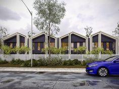 Townhouse Development — Row House Design, Villa Design, Cabin Design, Facade Design, Modern House Design, Minimalist Architecture, Facade Architecture, Facade House, House Roof