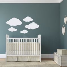 Cloud Decal Falling Star Decal Cloud By GetCreativeStudios On Etsy - Nursery wall decals clouds
