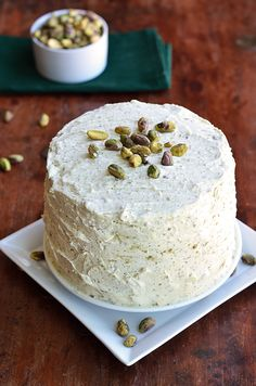 Paleo! Maple Pistachio Cake - dairy-free, gluten-free, and grain-free! Love the maple pistachio flavor. I would have to substitute sweeteners for low-glycemic options, but it could really work!