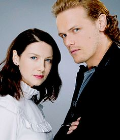 Sam Heughan and Caitriona Balfe photographed by  LA Times