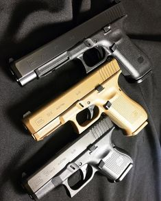 The three latest pistols from GLOCK. Which one is your favorite? #GLOCK #GLOCK34 #MOS #Gen5 #19X #CrossovertoConfidence #GLOCK26 #ArmedWithConfidence #guns #gunsdaily #competition #sportshooting Photo by @theoutpostarmory