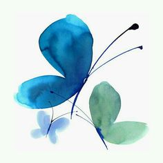 45 Easy and Simple Watercolor Painting Ideas - HERCOTTAGE - DIBUJOS ALLEGRA Painting easy Painting ideas Painting water Painting tutorials Painting landscape Painting abstract Watercolor Painting Butterfly Watercolor, Watercolor Cards, Watercolour Painting, Painting & Drawing, Watercolors, Watercolor Trees, Watercolor Artists, Blue Butterfly, Abstract Paintings