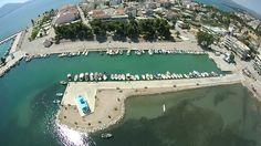 SJ5000 plus Drone flight over Nea Artaki fishtown, Greece, 1.7 firmware