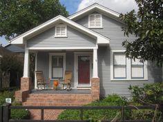 Blue Gray Exterior Paint Colors bungalow exterior paint color schemes | immaculately kept bungalow
