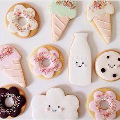 hello naomi cookies, Kawaii cute, ice cream cones