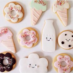 hello naomi cookies, Kawaii cute, ice cream cones