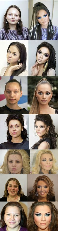 The great power of makeup... - The Meta Picture