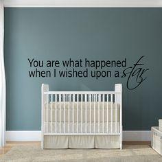 Nursery Room Wall Decal Decor Art  Babys Room Love Wall Vinyl Quote Words Decals