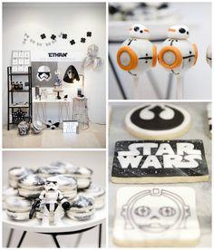 Geo, Copper & Monochromatic Star Wars Party via Kara's Party Ideas | KarasPartyIdeas.com (1)