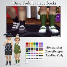 Qnie Toddler Lace Socks at qvoix – escaping reality • Sims 4 Updates