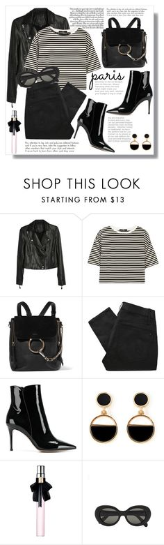 """""""Chic Parisian Essentials"""" by thefabulousfashionblog ❤ liked on Polyvore featuring Paige Denim, TIBI, Chloé, Marc by Marc Jacobs, Gianvito Rossi, Warehouse, Yves Saint Laurent and Acne Studios"""