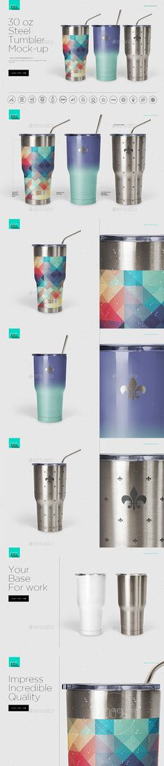 30 oz Stainless Tumbler Mockup — Photoshop PSD #mock up #template • Available here → https://graphicriver.net/item/30-oz-stainless-tumbler-mockup/17449642?ref=pxcr