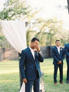 So sweet: http://www.stylemepretty.com/texas-weddings/clyde-texas/2015/12/31/giveaway-garden-wedding-for-a-very-deserving-couple/ | Photography: Becca Lea - http://beccalea.com/