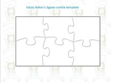 Puzzle Template Making your Puzzle cookie: 1) Start by making your cookie dough. Cream 200g of softened butter with 200g of caster sugar until the mixture is light and fluffy. Add to the mixture 1 …