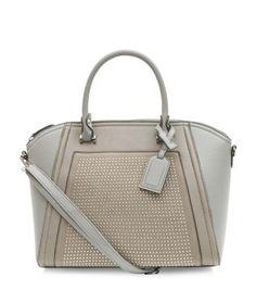 Grey Pin Studded Tote Bag £24.99
