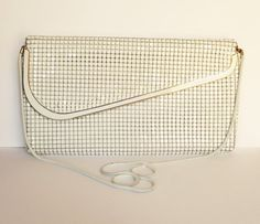 Genuine Glomesh purse Vintage white clutch by MyHighStreetBoutique