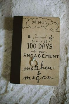 How amazing is this wedding gift for either the bride or the groom. Sentimental and perfectly budget friendly, an engagement journal with photos, notes and all the little things you've picked up along the way will be a treasure forever. See more great wedding gift ideas on the Mrs2Be blog now.