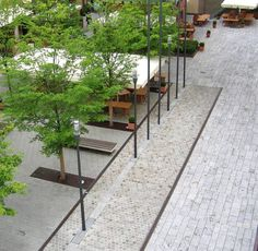 Inspiration for streetscapes and public spaces. STONE creates concrete unit paving to meet a project brief. Photo credit :Hessischer Landtag, Adler Olesch http://www.adlerolesch.de
