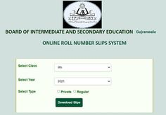 Roll Number Slip, Education In Pakistan, Boards, Planks
