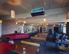 """Interior, Rainton Services, North Yorkshire from the porfolio A1: The Great North Road, November 1981. Chromogenic color print, 7 11/16 x 9 9/16"""" (19.5 x 24.3 cm). The Photography Council Fund. © 2012 Paul Graham"""