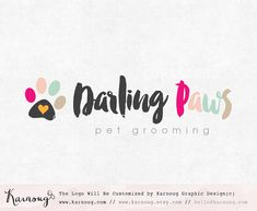 Paws Logo Design Dog Logo Paw Logo Boutique Logo by karnoug