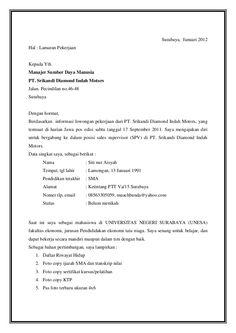 Contoh Surat Lamaran Kerja Di Toko Baju Ben Jobs Gerry
