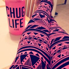 leggings.. also, that cup.. chug life.. heh.