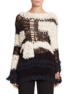 Maison Margiela - Deconstructed Contrast Sweater