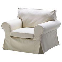 New Ikea Ektorp Chair Cover Armchair Slipcover Svanby Beige NIP #IKEA #Traditional