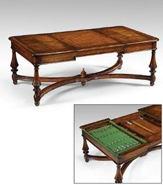Rectangular Coffee Game Tables High End Furniture
