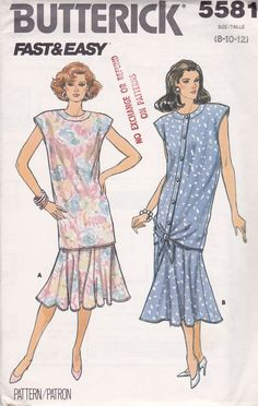 Vintage 1987 Butterick Pattern No 5581 Misses Top & Skirt Size 8-10-12 UNCUT http://stores.ebay.com/The-Spicy-Senior?_rdc=1