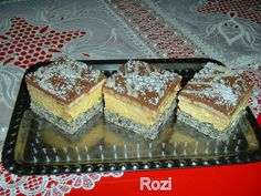 Rozi Erdélyi konyhája: Toszka szelet Poppy Cake, Hungarian Recipes, Hungarian Food, Tiramisu, Bacon, Cheesecake, Ethnic Recipes, Cheesecake Cake, Hungarian Cuisine