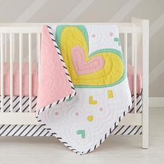 Pattern Party Crib Fitted Sheet (Pink Squiggle)  | The Land of Nod