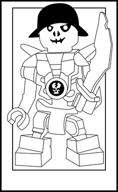 Ninjago skeleton coloring pages ~ 24 Best Ninjago coloring images in 2013 | Coloring books ...