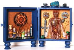 Apothecary Altar for the home.    Altars filled with mystical artifacts - tokens, totems and talismans sacred to some wild saint lost to the modern church.