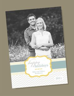 Holiday Label  custom holiday photo card by winksanddaisies, $15.00